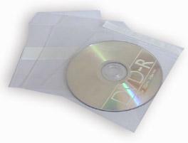 Bustina PVC con patella di chiusura e adesivo sul retro